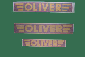 Oliver Implement Decals, Red & Yellow , Click to ENLARGE!
